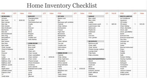 moving inventory list template 8 free sle moving inventory list templates printable