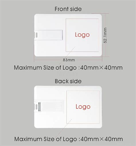 slim credit card usb flash drive with color printing