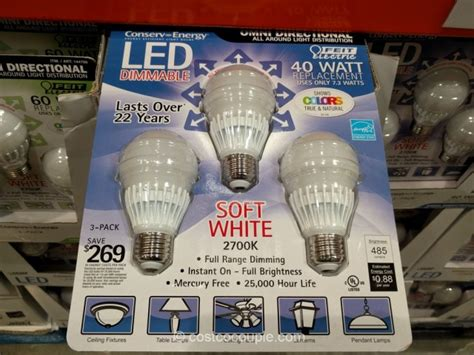 costco led light bulbs feit electric dimmable 40 watt replacement led bulbs