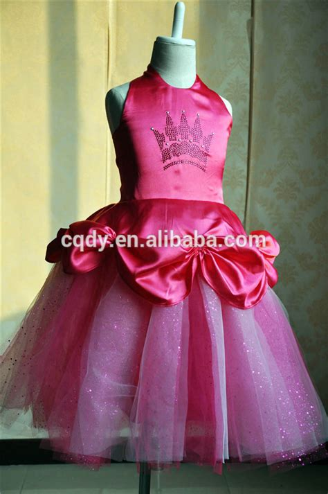 Carset 3 In Hug Flower Dress Hotpink 2015 wholesale pink princess dress princess flower dress wear