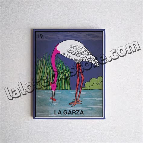 loteria la garza canvas 8x10 quot la garza loteria card stretched and ready to