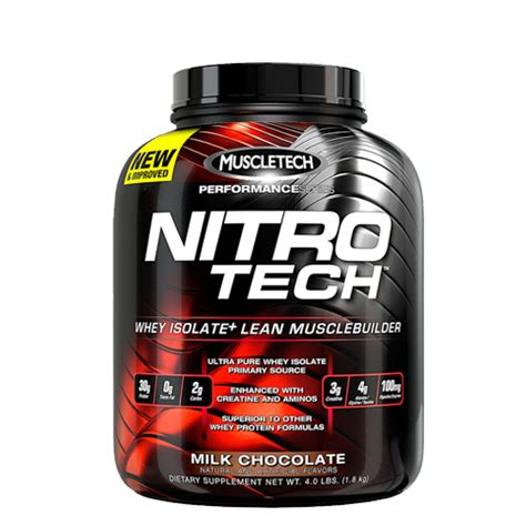 Suplemen Nitro Tech Muscletech Nitrotech 4 Lbs Whey King Supplements