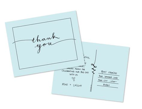 Wedding Thank You Card Template Free by A Free Thank You Postcard Template From Esplin