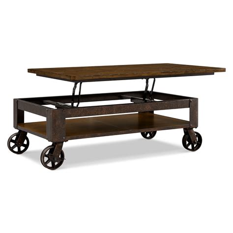 lift top coffee table with wheels shortline lift top cocktail table value city furniture