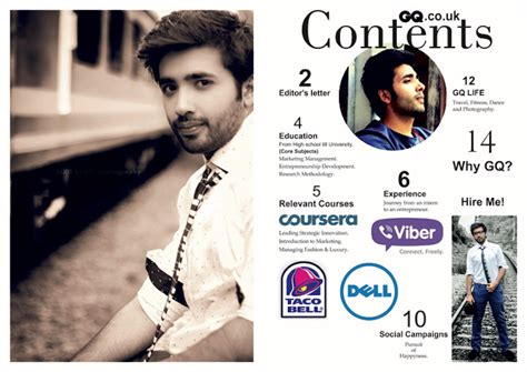 magazine layout resume this 21 year old s innovative resume landed him an offer