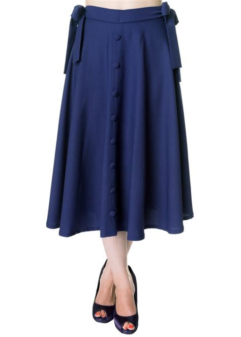 swinging skirts banned apparel button long swing skirt attitude clothing
