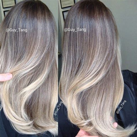 blonde colours ombre ash blonde balayage ombre by guy tang balayage ombre