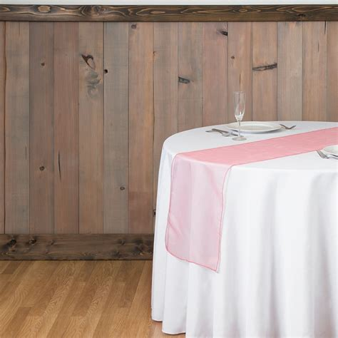 coral organza table runners 14 x 108 in organza table runner coral