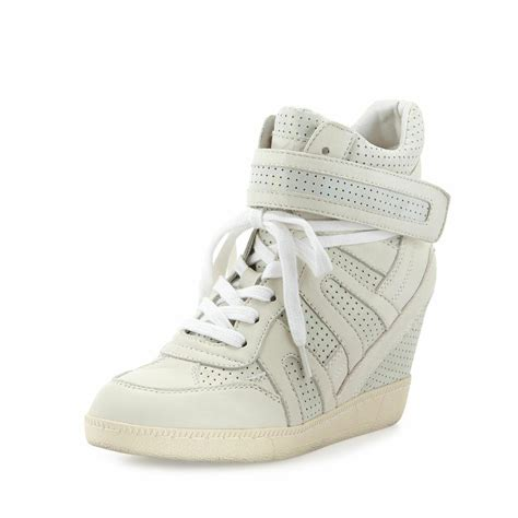 womens sneaker wedge ash women s beck bis shimmer combo leather wedge sneaker