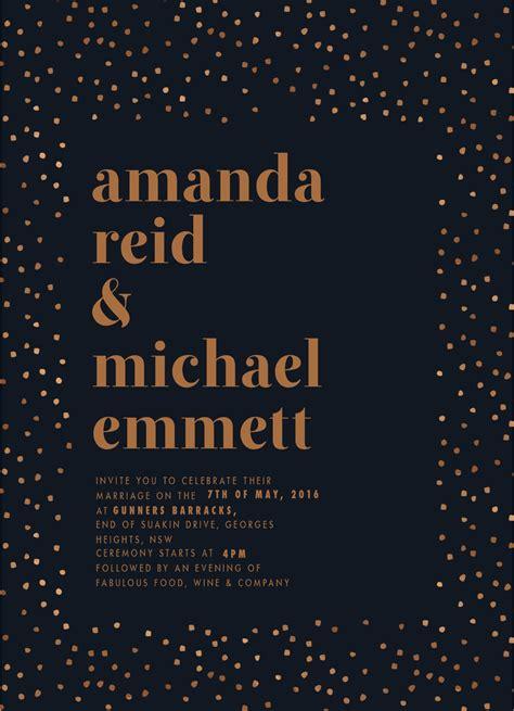 Wedding Spot Login by Minimalist Spot Real Foil Wedding Invitations