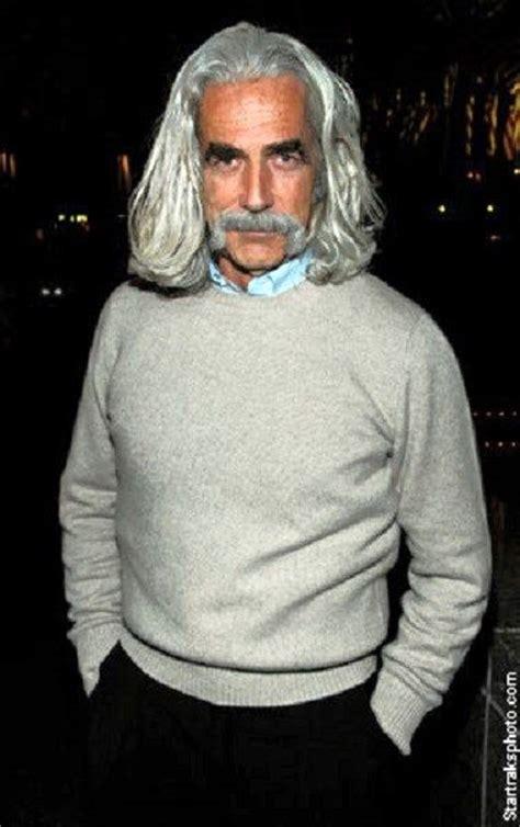 sam elliott long grey slickback hairstyle and handlebar mustache 136 best men gray hair images on pinterest