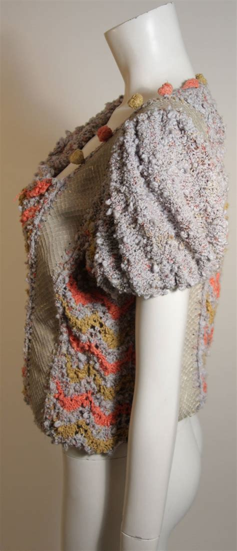 Handmade Sweaters - norma handmade knit sweater with snakeskin inserts for