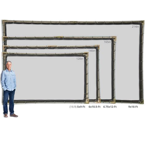 diy outdoor projection screen carl s diy hanging projector screen kit portable projection screens in 6 materials and in 11