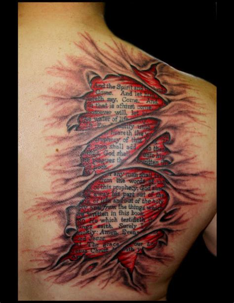 beneath the skin tattoo amazing bible verse skin on back shoulder