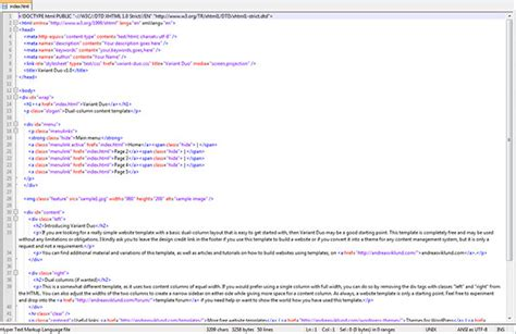 Template For Html Code tutorial building your website using a free website