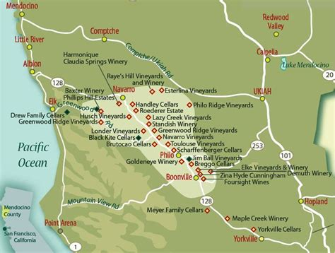 california map mendocino county philo california on map search places to