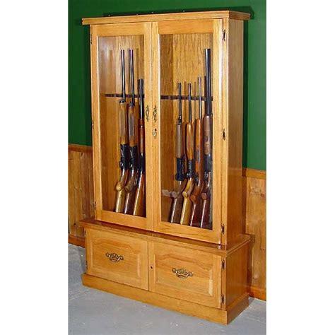solid wood gun cabinet 910 premium solid oak 12 gun cabinet