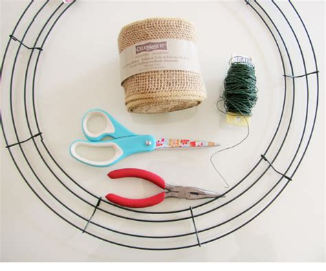 printable instructions to make a burlap wreath how to make a burlap wreath easy diy