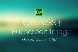 css3 screen background image dreamweaver cs6