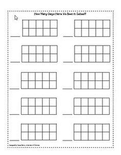 ten frame template 10 frame on ten frames frames and equals sign