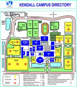 Miami Campus Map by Miami Dade College Kendall Campus Map 11011 Sw 104 St