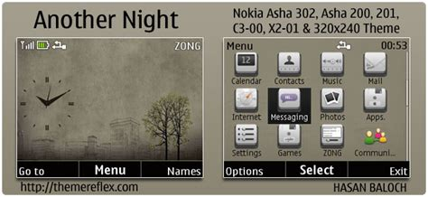 theme windows 10 nokia c3 another night theme for nokia c3 x2 01 asha 200 201 302