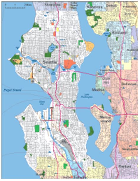 seattle map outline editable seattle wa city map illustrator pdf