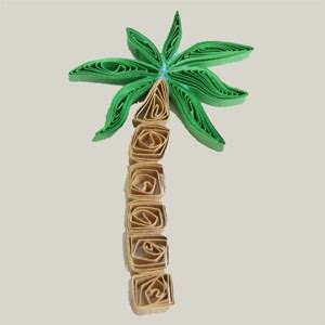A Palm Tree Out Of Paper - paper quilled palm tree free tutorial honey s quilling