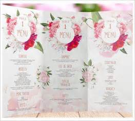 Free Menu Card Templates by Wedding Menu Templates Sle Templates