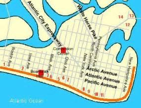 atlantic city us map atlantic city casinos guide