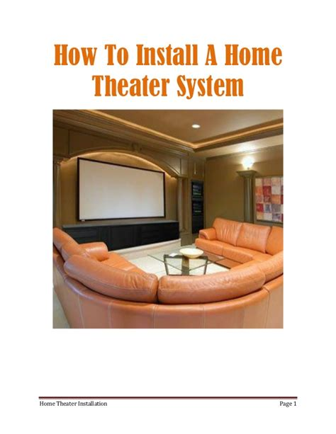 how to install a home theater system