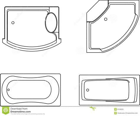 Types De Jacuzzi De Baignoire Illustration Stock 5 X 8 Bathroom Plans