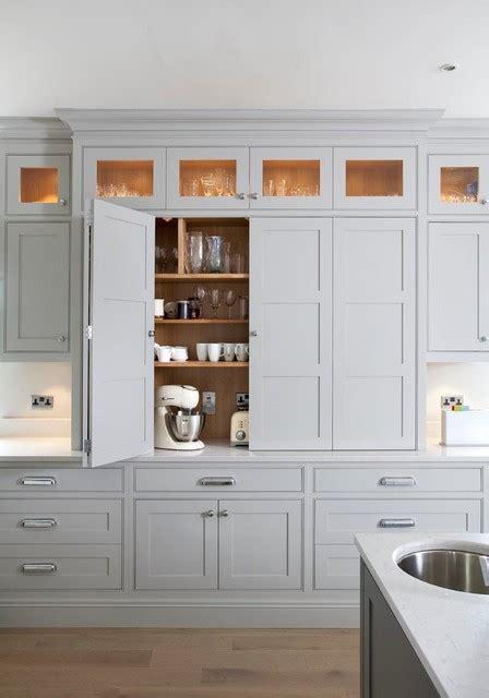 bifold kitchen cabinet doors bi fold larder transitional kitchen other metro by