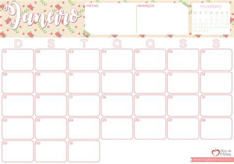 Calendario Organizador 2017 Para Imprimir Agenda Mimis 2017 Organizador Mensal Para Imprimir