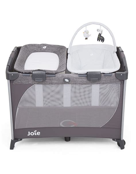 Joie Meet Baby Box With Change joie commuter change snooze linen grey travel cots