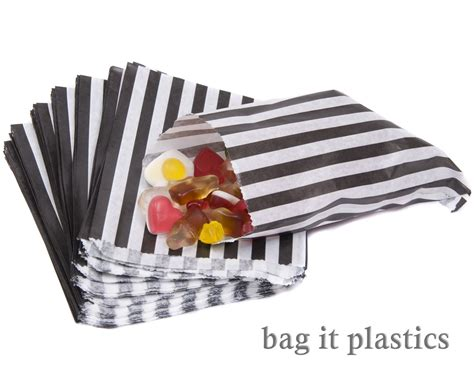 Sweet Wedding Paper Bag stripe paper n and mix sweet bag gift