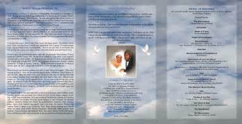 download free tri fold obituary program template free