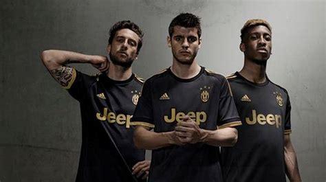 Jersey Juventus Fc Away Official Season 1516 black juventus kit 15 16 new juve third jersey 2015 16 football kit news new soccer jerseys