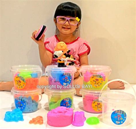 Murah Meriah Pasir Kinetik Kinetic Sand Magic Sand Pasir Ajaib Mainan pasir kinetik kinetic sand