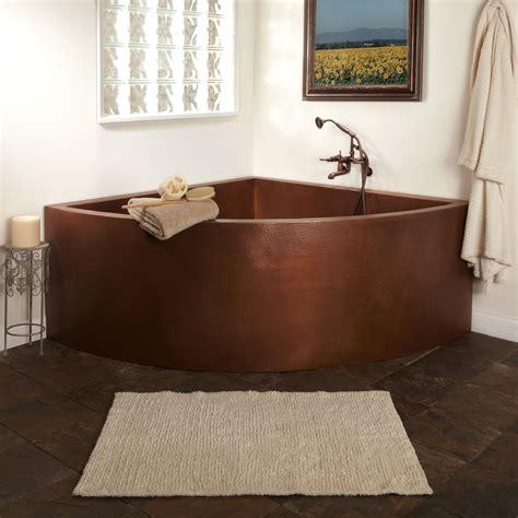 85 quot crosley copper corner three person soaking tub bathroom