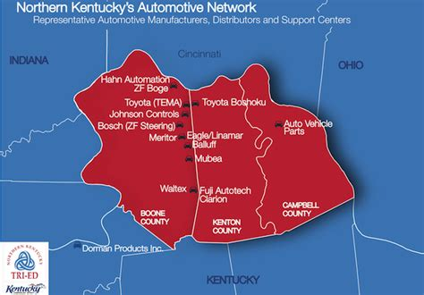 kentucky economic map study shows auto industry contributes 14 3 billion to