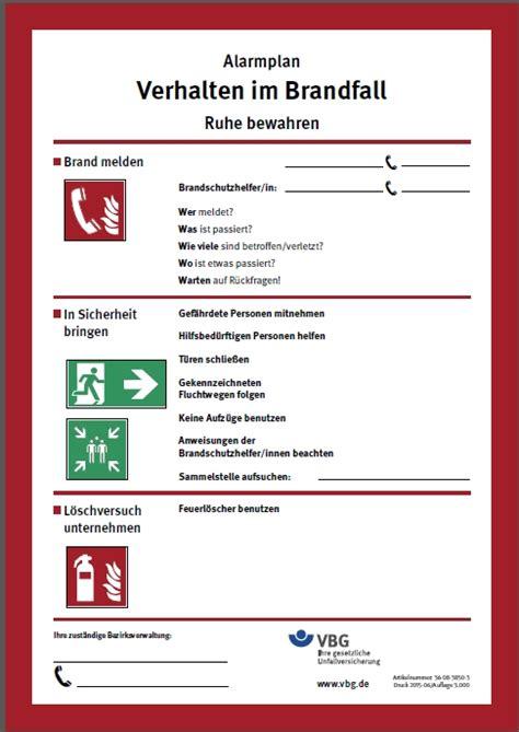 Word Vorlage Bedienungsanleitung Infoblatt Brandschutz