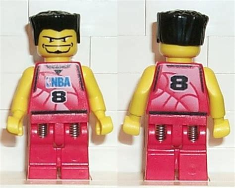 Lego Part Yellow Minifig Beard With Goatee Connected Eyebrows bricker lego minifigure nba026 nba player number 8