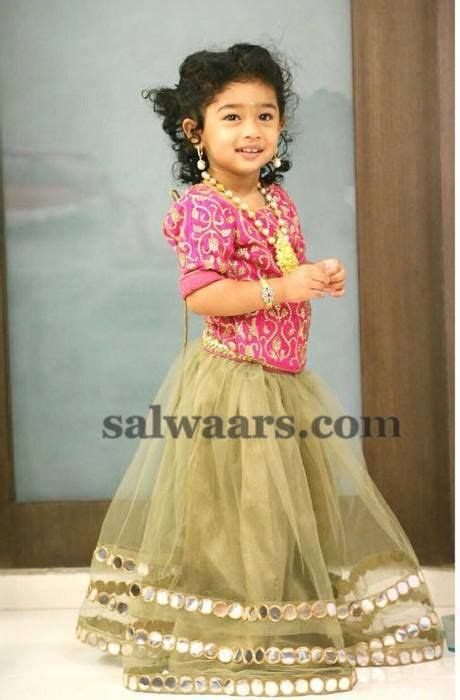south indian dress for baby boy baby in mirror work lehenga indian dresses indian