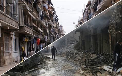 syria before and after aleppo before and after syria s civil war told in haunting