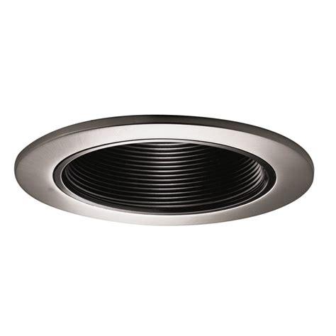 4 inch recessed light baffle trim halo black baffle with satin nickel trim ring 4 inch