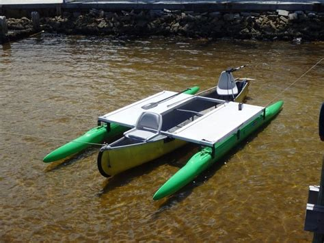 canoe pontoons 16 ft outrigger kit on a 15 year old canoe boats