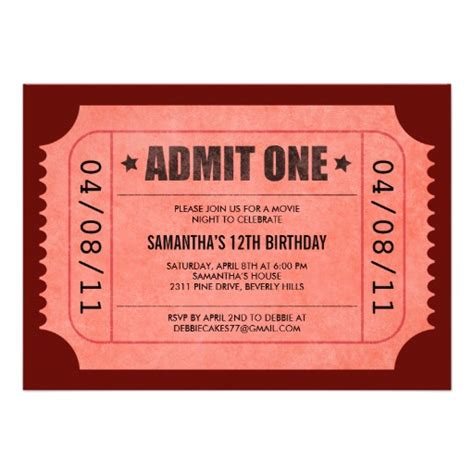 admit one ticket invitation template admit one ticket search results calendar 2015