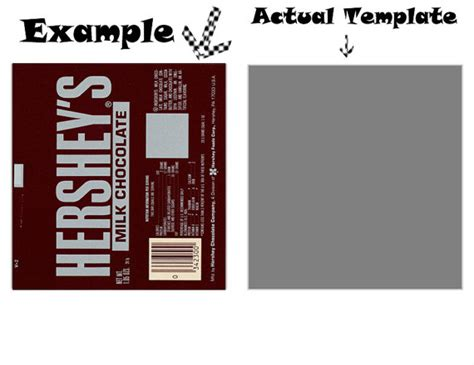 items similar to full size candy bar wrapper template