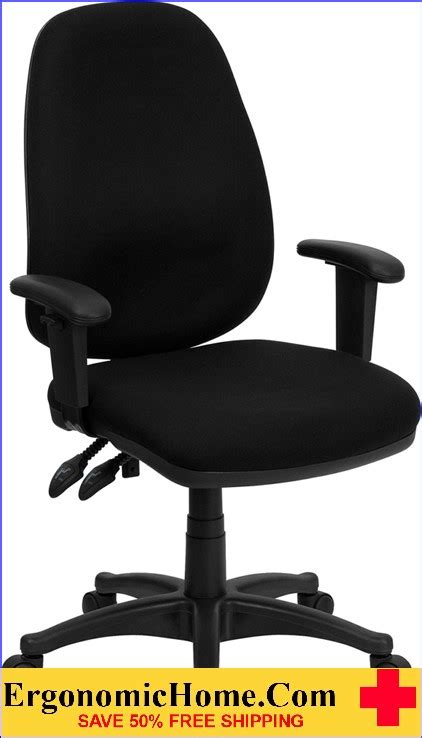 office chair height ergonomics ergonomic home high back black fabric executive ergonomic